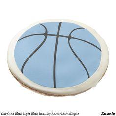 Carolina Blue Light Blue Basketball Sugar Cookies #basketball #carolina #blue #party #banquet #unc #tarheels