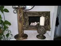 Kerzenständer aus Papier Röllchen