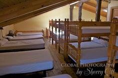 A typcial albergue bedroom