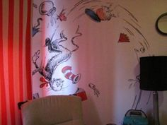 Best Dr. Seuss Themed Baby Nursery Ever with Cat in the Hat, One Fish Two Fish, Horton Hears a Who and Bird from the Sleep Book. My husband and I started discussing nursery themes and eventually agreed a Dr. Seuss themed nursery. Being the planner that he is, my Hubby wanted something