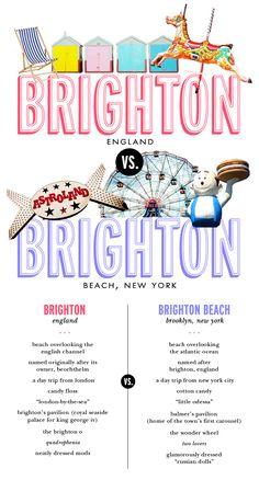 Brighton, UK vs Brighton beach, NY. Brighton UK WINS!!!