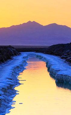 The Crusty Salt Pond, San Bernardino, California, U.S