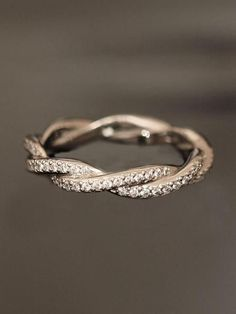 Wedding Inspiration | Wedding Rings I know I've pinned this before, but I love it so much. It's perfect to go along with a plain engagement ring.