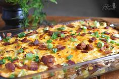 If you're looking for an easy, very satisfying, very filling Loaded Baked Potato Casserole with Chicken, you found it! Perfect to feed a crowd!