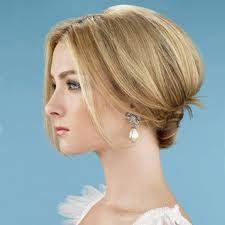 low bun for shoulder-length hair