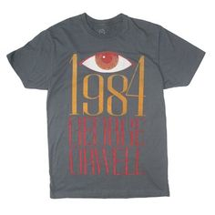"""1984"" Retro Book Cover Unisex Adult T-Shirt by Out of Print Clothing"