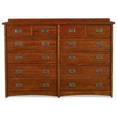 Found it at www.dcgstores.com - ♥ ♥ Prairie Mission 12 Drawer Oak Dresser ♥ ♥