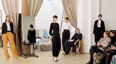 The finale of the Christophe Lemaire Spring/Summer 2013 presentation