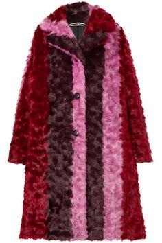 Crimson, light-pink and burgundy faux fur Button fastenings through front modacrylic; Alexander Mcqueen Clothing, Mcq Alexander Mcqueen, Best Winter Coats, Winter Coats Women, Fringe Flapper Dress, Fashion Editor, Amazing Women, Fur Coat, Fashion Outfits