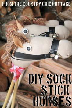 How to make stick horses for a cowboy or cowgirl party.