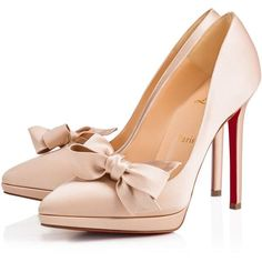 Christian Louboutin Miss Pigalle (23 635 UAH) ❤ liked on Polyvore featuring shoes, pumps, louboutin, christian louboutin, nu, platform pumps, high heel pumps, high heel court shoes, bow pumps and high heel shoes
