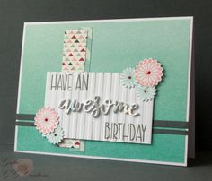 Handmade card by Greta using the Simply Amazing and New Beginnings stamp sets from Verve. #vervestamps