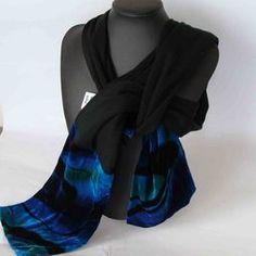 Glamorous New Zealand Merino and Velvet Scarf