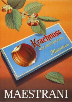 Krachnuss Milchschokolade - Maestrani-Plakat