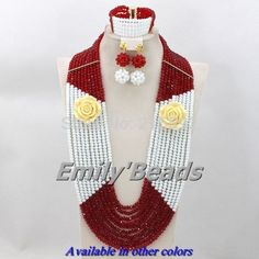 Find More Jewelry Sets Information about 2014 Longest Crystal Beads Necklaces Jewelry Sets 10 Layers Red Mix White Nigerian Wedding Jewelry Sets Free Shipping AES819,High Quality jewelry with chinese symbols,China jewelry making tool set Suppliers, Cheap jewelry bead from Emily's Jewelry DIY Store on Aliexpress.com