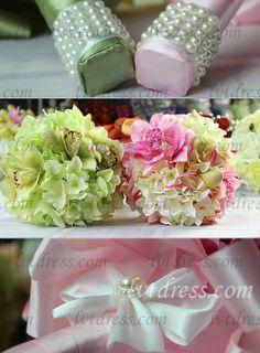 Gorgeous Round Cymbidium Bridal Bouquets
