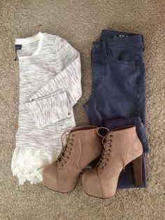 Can't wait til I have somewhere to wear my new high rise skinnies and platform booties