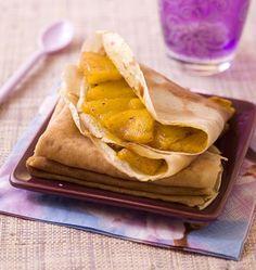 Crêpes à l'ananas et au safran - Recettes de cuisine Ôdélices