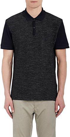 Lanvin Men's Piqué & Slub-Knit Polo Shirt