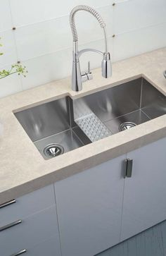 Get that commercial look with a modern twist. Your inner chef is asking for this. #kitchenfaucet