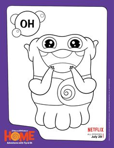 DreamWorks Home Oh Coloring Page