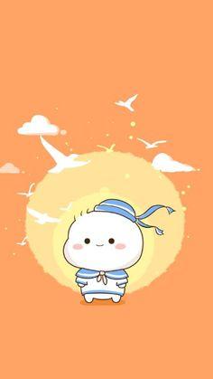 Cute Little Drawings, Cute Cartoon Drawings, Chibi Cat, Cute Chibi, Kawaii Wallpaper, Wallpaper Iphone Cute, Backgrounds Girly, Love Cartoon Couple, Cute Kawaii Animals