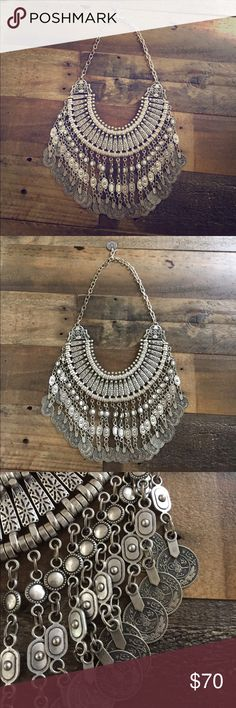 Free People Child Of Wild Turkish Coin Necklace Gently Preloved Free People Jewelry Necklaces
