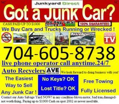 We Buy Junk Cars Without Title Charlotte Nc