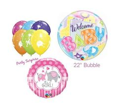 Bubble Balloons, Confetti Balloons, Bubbles, Safari Party Decorations, Birthday Decorations, Balloon Animals, Baby Animals, Baby Girl Items, Gender Reveal Decorations