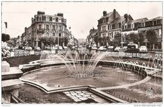 Place de Morny Deauville Normandy, carte postale. Distracted by the deluge, in Deauville http://www.normandythenandnow.com/distracted-by-the-deluge-in-deauville/