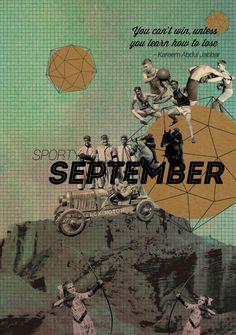 sporty september,  digital collage for agenda UI 2014 project. depok,  2013
