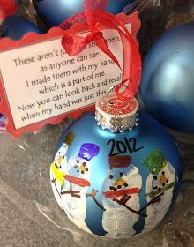 These are the Christmas gifts my students made for their parents this year.  They ended up being cute gifts that didn't cost much money ...