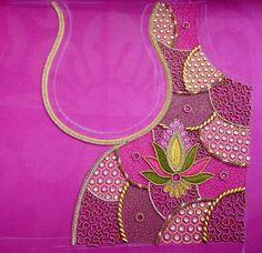 Wedding Saree Blouse Designs, New Blouse Designs, Saree Blouse Neck Designs, Stylish Blouse Design, Neckline Designs, Blouse Patterns, Embroidery Neck Designs, Aari Embroidery, Maggam Work Designs