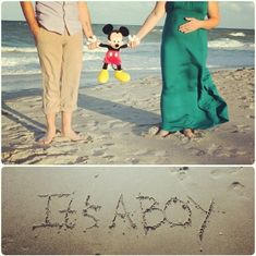 our gender reveal baby pic. Disney baby reveal.