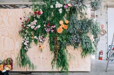Wall installation inspo (not as large but kind of wild and overgrown looking with lots of greenery)