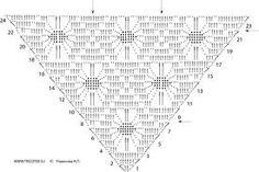 Afbeeldingsresultaat voor схема вязания шали