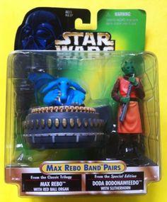 STAR WARS POWER OF THE FORCE MAX REBO BAND PAIRS MAX AND DODA (1998)