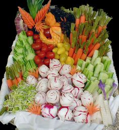 creative fruit displays | assorted vegetable display vegetable display with beautiful carvings ...