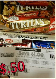 🐢Publix:$.50 Turtles candy