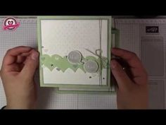 ▶ Tutorial: Hochzeitskarte in Pistazie selber machen, mit Produkten von Stampin' Up! - YouTube