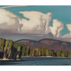 """""""Lake of Two Rivers, Algonquin Park,"""" Alfred Joseph Casson, oil on board, x private collection. Canadian Painters, Canadian Artists, Group Of Seven Paintings, Tom Thomson, Algonquin Park, Two Rivers, Muse Art, Interiores Design, Landscape Art"""