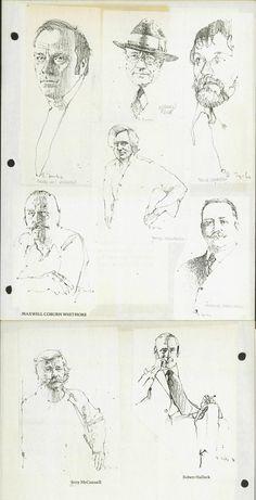 Portrait Drawings by Bernie Fuchs