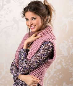 Cozy Shrug Free Knitting Pattern from Red Heart Yarns