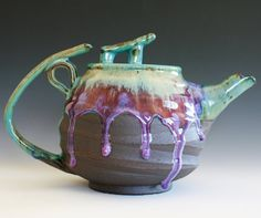 Beautiful teapot from ocpottery on Etsy