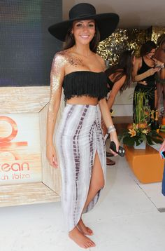 Michelle Keegan at Ocean Beach in Ibiza, 30 August 2015