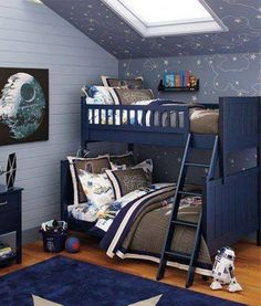 15 Fun Space Themed Bedrooms for Boys | Rilane - We Aspire to ...