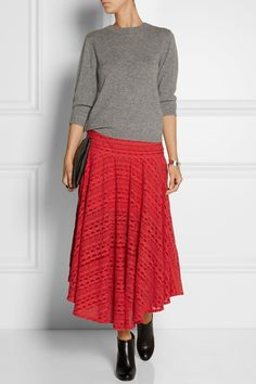 Preen Line|Clare embroidered tulle midi skirt|NET-A-PORTER.COM