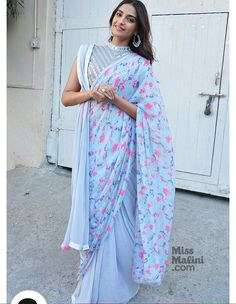 #sonam #kapoor in blue saree