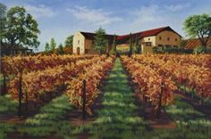 Las Positas Vineyard Pastel on Paper By Debbie Wardrope