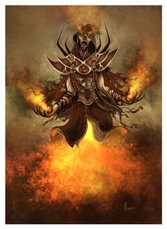 The real danger in fire magic - or any kind of elemental magic, for that matter - is the possibility of being consumed by that element. Dark Fantasy Art, Fantasy Girl, Dark Art, Vampires, Demon Games, Dragon Age Rpg, Fantasy Literature, Angels And Demons, Cool Art